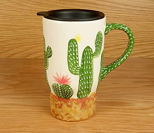 Red Deer Cactus Travel Mug