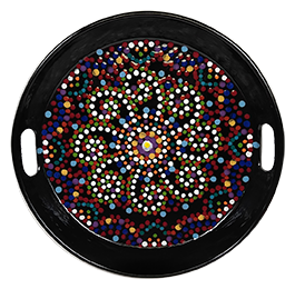 Red Deer Mosaic Mandala Tray