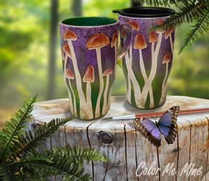 Red Deer Mushroom Mugs