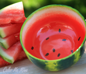 Red Deer Watermelon Bowl
