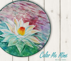 Red Deer Lotus Flower Plate