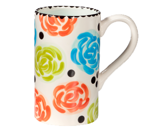 Red Deer Simple Floral Mug