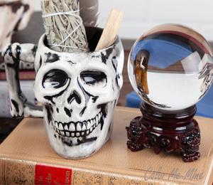Red Deer Antiqued Skull Mug