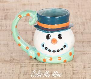 Red Deer Snowman Mug