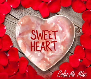 Red Deer Candy Heart Plate