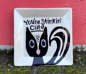 Red Deer Skunk Plate