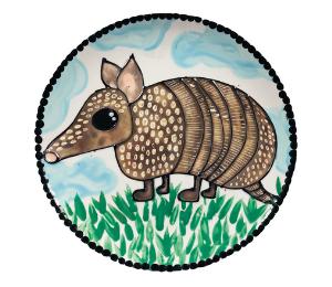 Red Deer Armadillo Plate