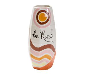 Red Deer Be Kind Vase