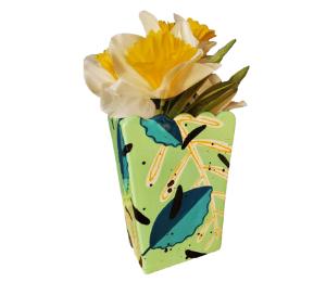Red Deer Leafy Vase