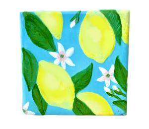 Red Deer Lemon Square Tile
