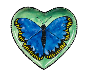 Red Deer Butterfly Plate
