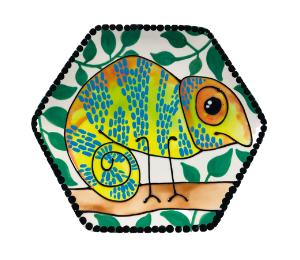 Red Deer Chameleon Plate