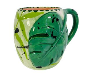 Red Deer Monstera Mug