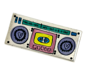 Red Deer Boombox Tray