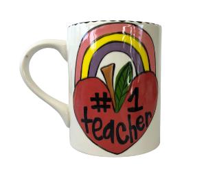 Red Deer Rainbow Apple Mug