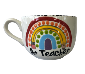 Red Deer Polka Dot Rainbow Mug