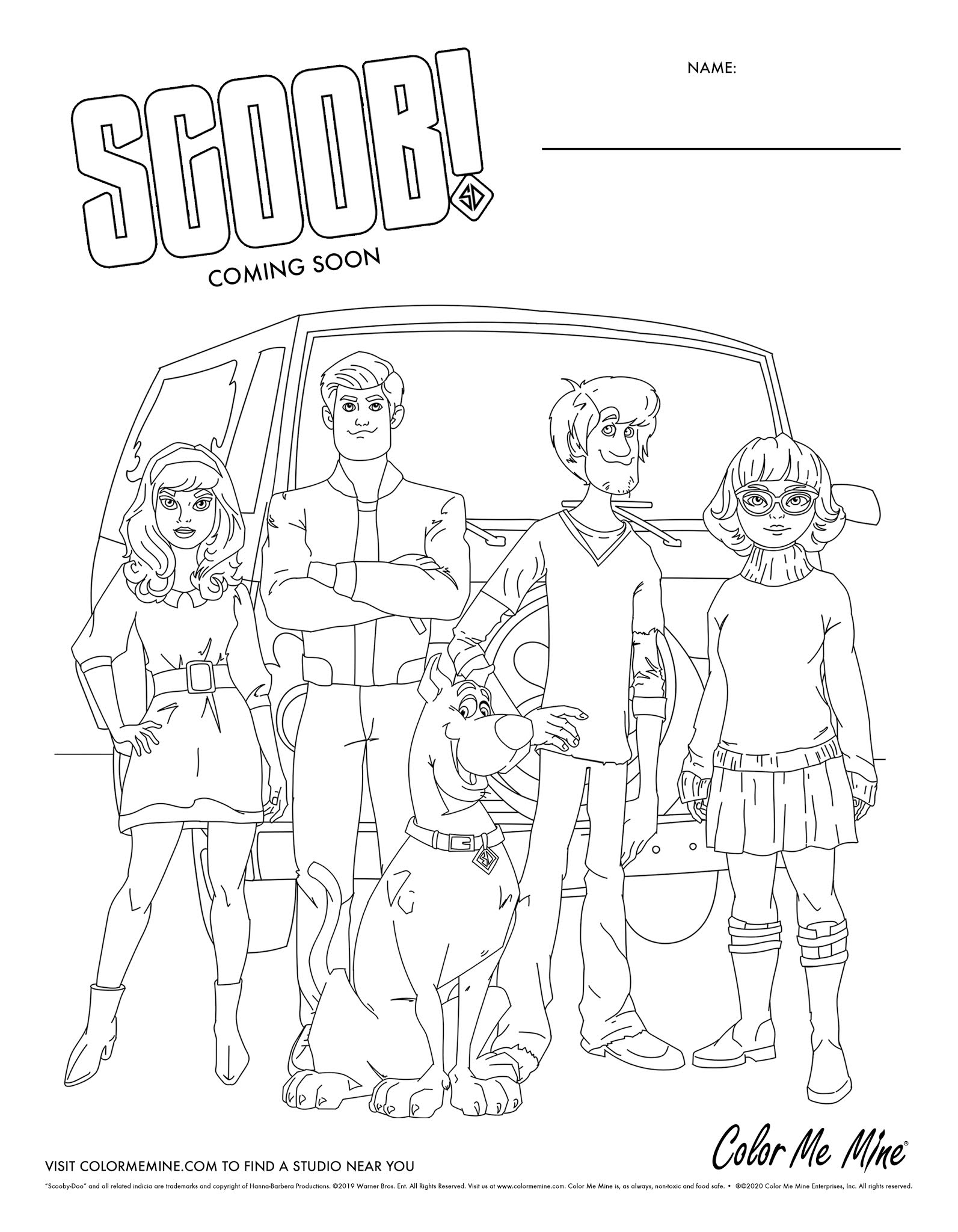 FREE SCOOB Coloring Sheets! - Red Deer
